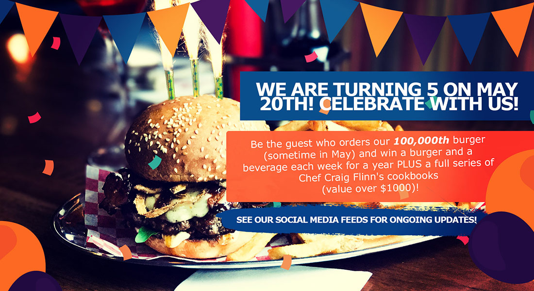 WE ARE TURNING 5 ON MAY 20TH! Celebrate with us!